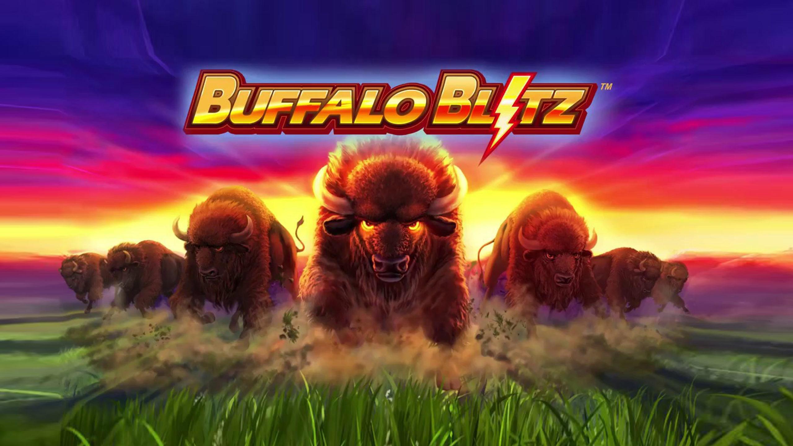 Buffalo Blitz slot logo