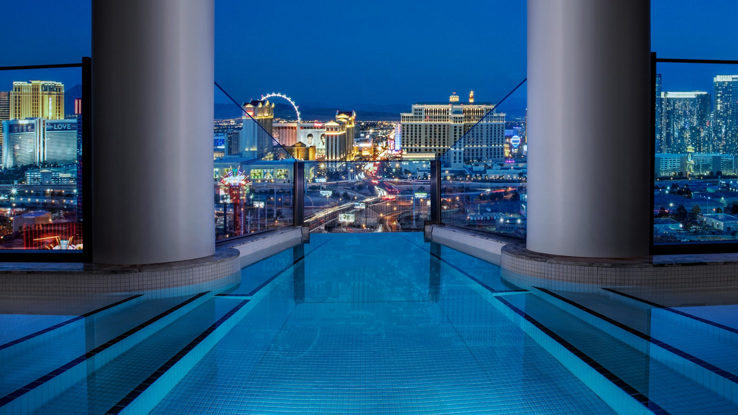 View of Vegas Strip from Palms Penthouse Suite