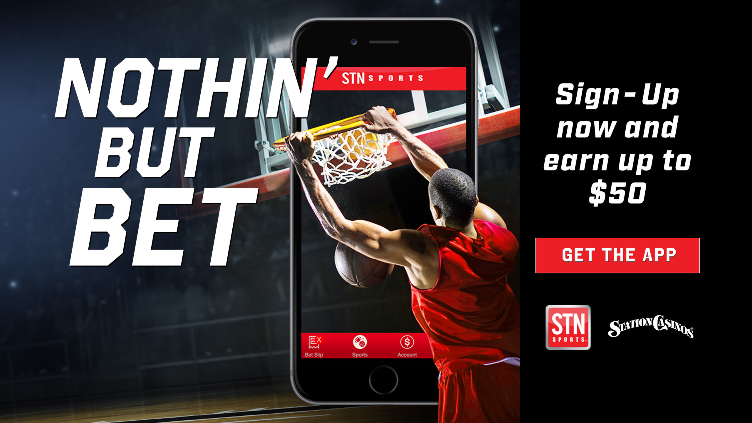 STN Sports Nothin' But Bet promotion to get the app